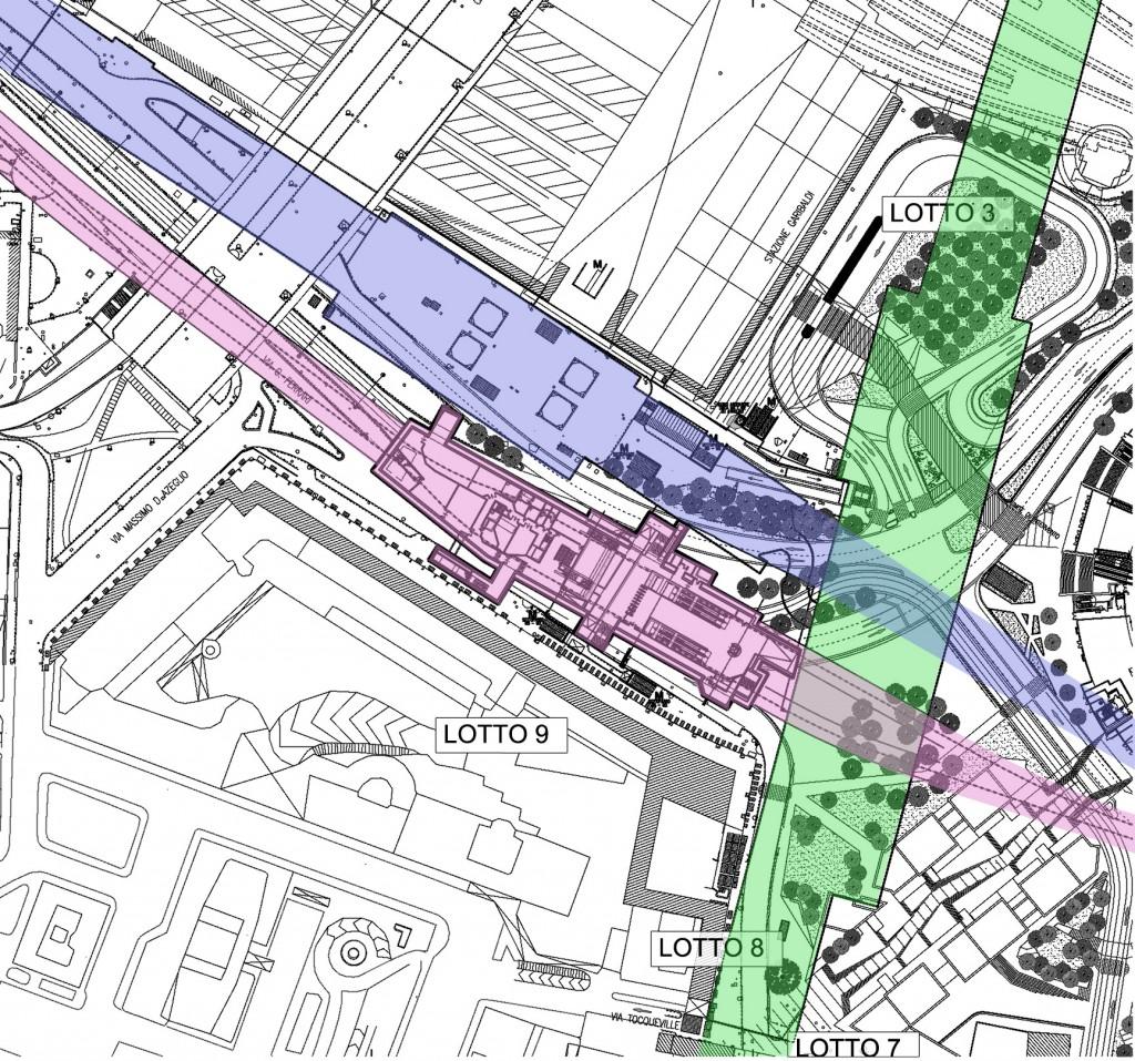 Metro 5 lilla la storia della fermata garibaldi - Milano porta garibaldi passante mappa ...