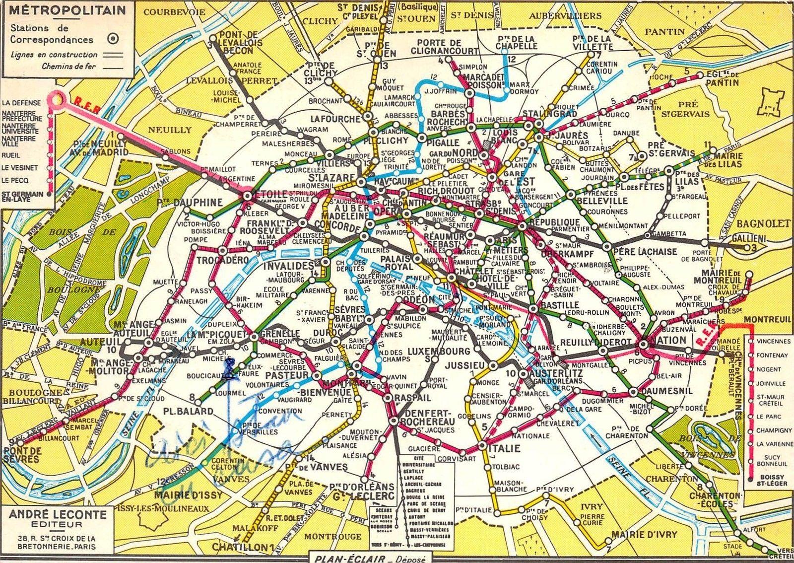 Cartina Metro Di Parigi.Metropolitana Di Parigi Metroricerche Blog